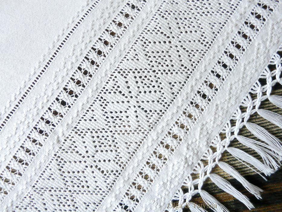 рушник белий по белому