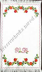 Вышитая крестом пасхальная салфетка, размеры 47х29см, ткань Аида, вышито акриловыми нитками.