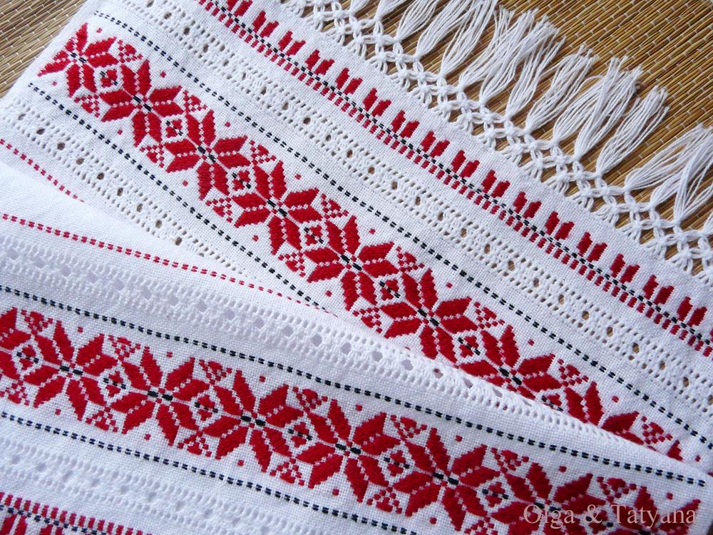 вышивка крестом салфетки схемы