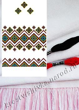 набор для вышивки рушника домотканое полотно